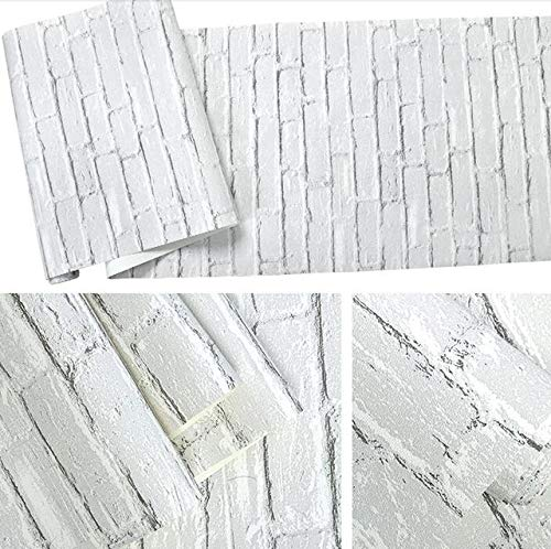 Los paneles de pared 3D Wall Stickers Murales Blanco impermeable ladrillo Efecto...
