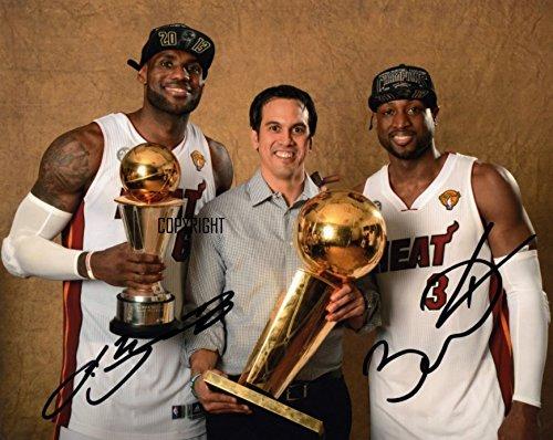 Edizione limitata Lebron James Dwayne Wade basketball firmato fotografia + cert stampato Autograph