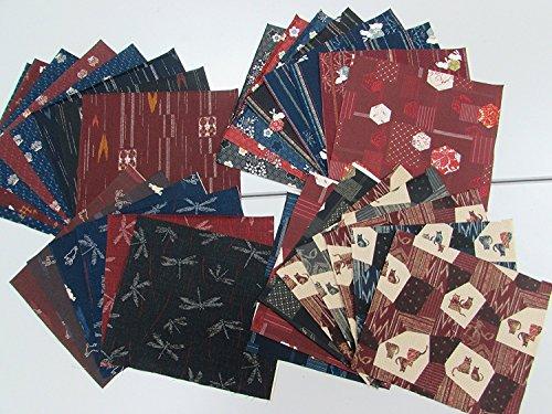 Japanse stijl/Japanse patroon print/Kimono stijl stof Hagile geslepen kruis 30 stuks (24 cm x 25 cm) # 9