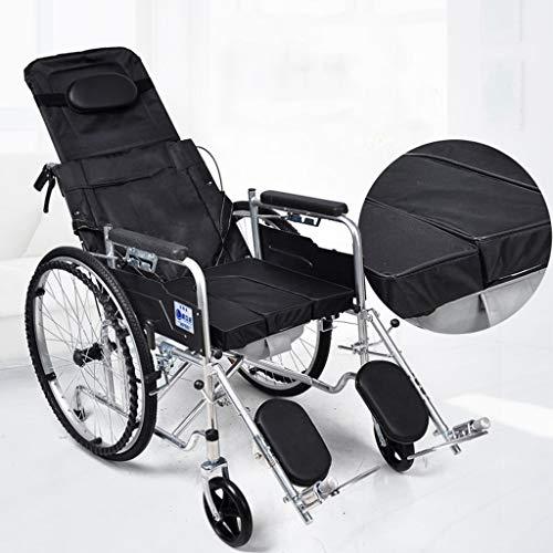Rollstuhl Leichter zusammenklappbarer Verstellbarer selbstfahrender, halb liegend mit Toilette, Beinstütze, 18-Zoll-Sitzbreite