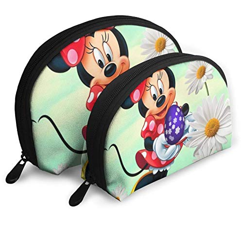 XCNGG M-ickey Mouse Cartoons Shell Shape Storage bag Coin Purse Cosmetic Unisex Travel Storage Baging 2 Pcs Stationery Pencil Multifunction Bag Child Wallet Key Case Hand Bag