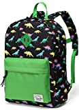 Preschool Backpack,Vaschy Little Kid Backpacks for Boys with Chest Strap Cute Dinosaur
