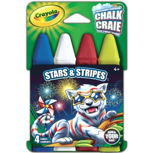 Crayola Build Your Box Stars & Stripes Chalk (4 Count)