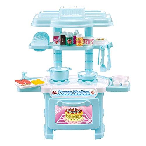 ENFANTS de cuisine Modèle enfants développement éducatif Pretend Play jouet 33 pcs/lot, bleu, taille unique
