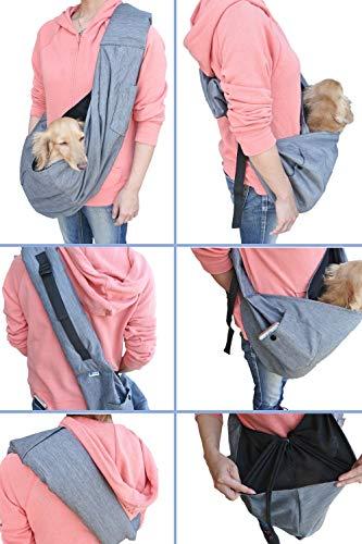 smiledogドッグスリング犬抱っこ紐スリング小型犬中型犬10kgペットスリングバッグ(長さ調整可能)