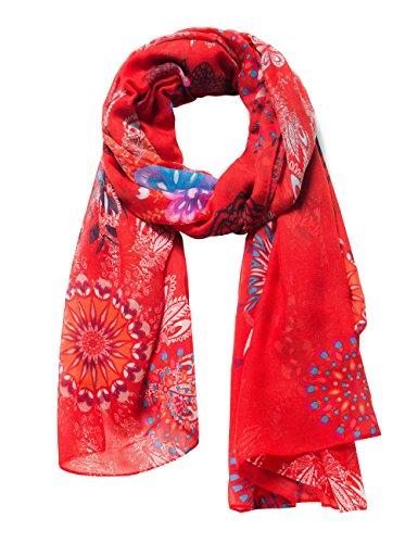 Desigual Damen FULAR_Mandala Schal, Rot (Carmin 3000), One Size (Herstellergröße: U)