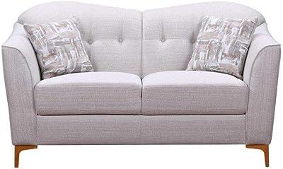 Danube Home Alermo 2 Seater Fabric Sofa - Oatmeal