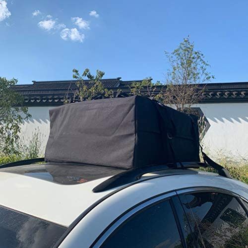 FINDAUTO Cargo Bag,Waterproof Cargo Bag Foldable Soft Rooftop Luggage Carriers Works with or Without Roof Rack (10 Cubic Feet)