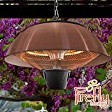 Firefly 1.5kW Hanging Copper Halogen Infrared Patio Heater