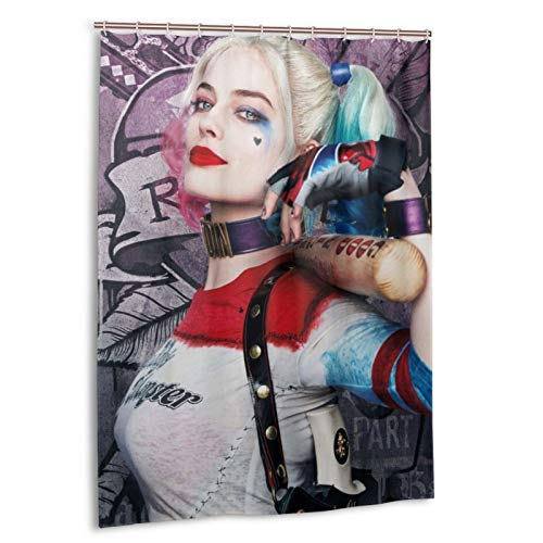 51TlmI1pclL Harley Quinn Shower Curtains