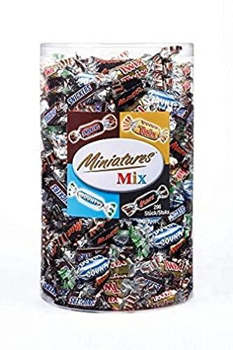 Miniatures Mix (Mars, Bounty, Twix, Snickers), ca. 296pezzi, scatola trasparente–3kg