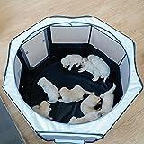 petsfit 折りたたみサークル 八角形 プレイサークル 犬 猫 兼用 分娩室 メッシュ 屋根付き 屋内 屋外 収納バッグ付き S/M/L ピンク/ブラウン/ブルー 選択可能
