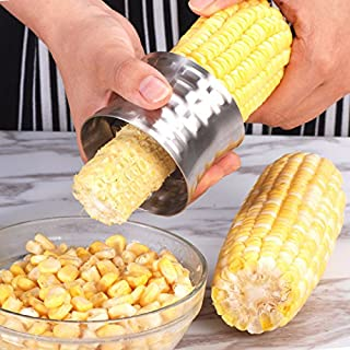 コーン粒取り器 304ステンレス コーンピーラー 脱穀機 トウモロコシカッター コーンカッター トウモロコシ カッター 便利小物 家庭用 コーンツール 粒を簡単に剥き取る キッチン