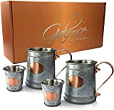 Galrose Galvanized Iron Beer Stein - Rose Gold Plaque 16 oz Stainless...