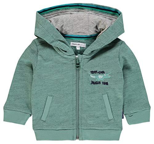 Noppies B Sweat Hood ls Savannah Veste de Sport, Vert (Oil Green P038), 68 cm Bébé garçon