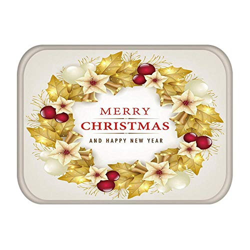 QNNN Tapete en el Pasillo Cocina Felpudo Feliz Navidad Papá Noel Decoración del hogar Alfombra de la Sala...
