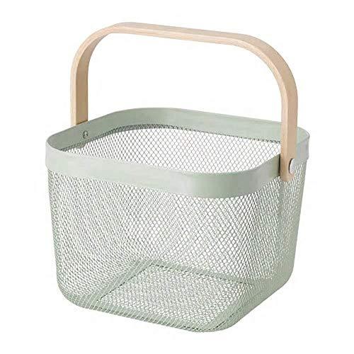 IKEA/イケア RISATORP :バスケット25x26x18 cm ライトグリーン (104.437.14)