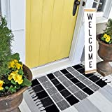 Buffalo Check Outdoor Rug, LIFEI Plaid Doormat, Heavy Duty Buffalo Check Stack Rug Farmehouse Decor Front Door Mat Kitchen Rugs, Home Holiday Guide for Front Porch, Kitchen,Bedroom Size: 23''X 35'