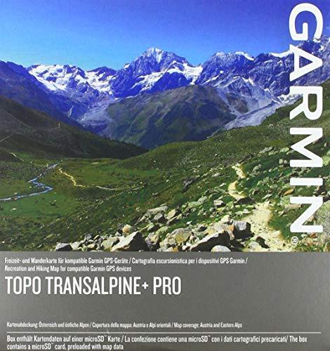 Garmin Karten TOPO Transalpine+ PRO-topografische Vektorkarte zum Wandern und Radfahren für die östlichen Alpen im Maßstab 1:25.000, schwarz, M