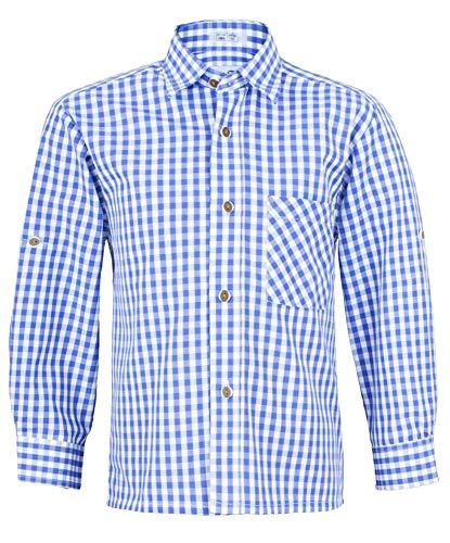 Isar-Trachten Isar-Trachten Kinder Trachtenhemd Moritz - Blau Gr. 116