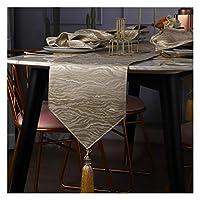 テーブルランナー タッセル付きテーブルランナー北ヨーロッパポリエステル綿テーブルランナー家族の夕食、農家、結婚披露宴の休日の装飾(Color:ベージュ,Size:30x210cm)
