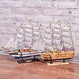 GEEFSU-Modelo de Barco Adorno de Navidad Mini Crucero Colección Barco Pirata Regalo Creativo de Cumpleaños para Decoración de Veleros,32cmsailingpair