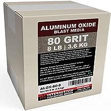 #80 Aluminum Oxide - 8 LBS - Medium to Fine Sand Blasting Abrasive Media for Blasting Cabinet or Blasting Guns.