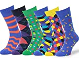 Easton Marlowe 6 PR Calcetines Estampados Hombre - 6pk #1, mixed - bright colors, 43-46 EU shoe size