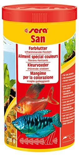 sera 00270 san 1000 ml - das Farbfutter aus schwimmenden Flocken