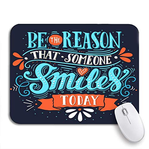 MIGAGA Gaming Mouse Pad Be The Reason That Someone Smiles Today Inspirational Vintage 9.5'x7.9' Nonslip Rubber Backing Computer Mousepad for Notebooks Mouse Mats