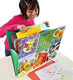 HearthSong Art Place Portfolio with Handles-8 Expandable Coded Accordion Files for Organizing Children's Artwork-19 H x 15.25 W, Multi-Colored
