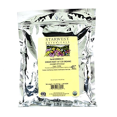 Starwest Botanicals Organic Ginger Root 1/4