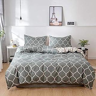 Vizier - Comfortable King size (220X240CM) 6 Pcs Bedding Duvet Cover Set - Geometric Green