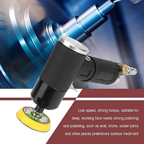 Lucht-haakse slijper, mini-lucht-haakse slijper Pneumatisch polijstgereedschap + 2-inch-3-inch schuurzool Lucht-haakse slijper