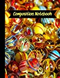 Composition Notebook: Lampwork Glass Beads Jewelry Making Cover Theme.  College Ruled Lined Journal. JDB Designs