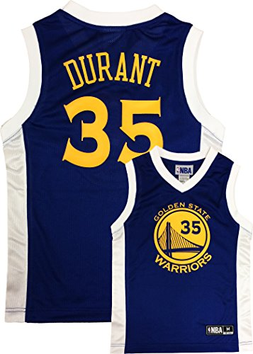 Kevin Durant Golden State Warriors #35 Blue Youth Player Jersey (XXL 18)