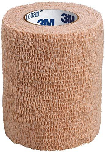 3M Coban Self-Adherent Wrap, Tan, 3x 5 yards, Box of 24 Rolls