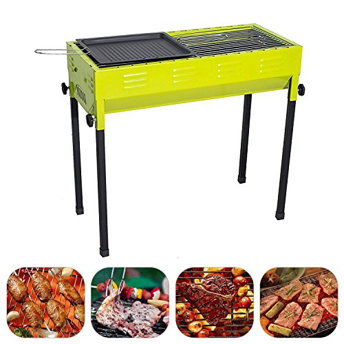 Camp Solutions Barbecue Grill Portable Charcoal Grill Perfect Foldable Premium BBQ Grill for Outdoor Campers Barbecue Lovers Travel Park Beach Wild