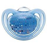 Nuk Freestyle - Chupete de silicona (tamaño 2, 6-18 meses, 2 unidades, 3 unidades), color azul