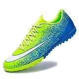 AIRUYI Zapatos deportivos Botas de fútbol para exteriores e interiores, zapatos de fútbol atléticos, ligeros, para correr, al aire libre/interior, cómodos zapatos de fútbol (color: verde, tamaño: 36)