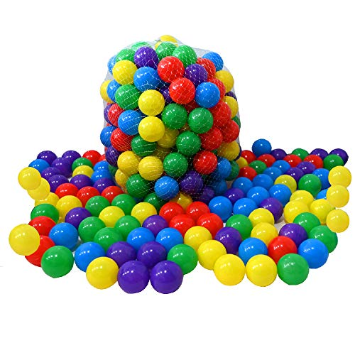 RASENFREUND 200 Stück Bälle für Bällebad Ø5,5cm Bälle für Kinder Bällebäder Babybälle Plastikbälle Ballpool Bällepool Spielbälle Kinderbällebad 5,5cm Durchmesser 200er Pack