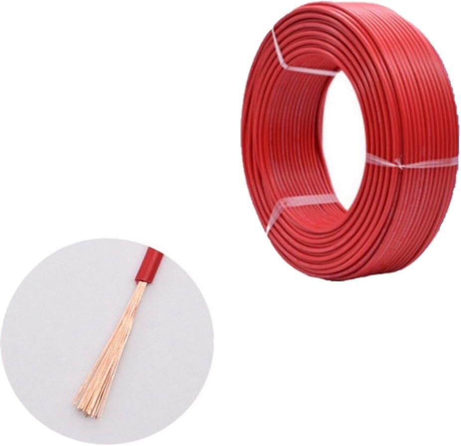 10meter Fahrzeugleitung 12v 24v 1 Polig Anhängerleitung Anhängerkabel Auto Leitung Kabel Litze Draht Rund Rot Schwarzes Rot 0 5mm 11amps Auto