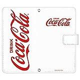 TONE m17 ケース [デザイン:C.ビックロゴ(白)/マグネットハンドあり] Coca-Cola コカ コーラ トーン m17 手帳型 スマホケース スマホカバー 手帳 携帯 カバー