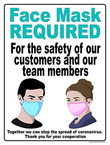 P40MSK Stop The Spread of Germs Poster'CDC Guidelines Face Mask Required' Vinyl Window Public Health Sign Posters Retail Business Store Safety Signs for Viruses (P40 - 25' x 33')