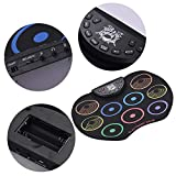 Jklt Mano Roll Drum Compact Size Batteria Electronic Drum Roll Up Pratica Midi con 9 Silicon Pad...