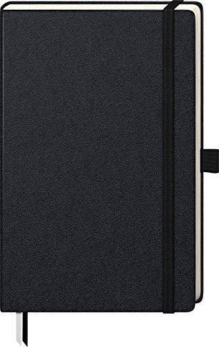 Brunnen 105522605 Notizbuch Kompagnon Klassik (Hardcover, 12,5 x 19,5 cm, unliniert, 192 Seiten) 1 Stück, schwarz