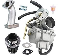 PZ20 20mm Carburetor Fits for 50cc 70cc 90cc 110cc Kids ATVs,Go Karts,dirt bike,scooter moped; 50cc 70cc 90cc 110cc 125cc Coolster NST BMS JCL SSR Pister PRO Lifan SDG; for most 50cc 70cc 90cc 110cc 125cc 135cc Chinese ATVs,go karts with 4 stroke eng...