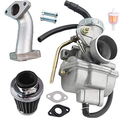 PZ20 Carburetor Carb for Kazuma Baja 50cc 70cc 90cc 110cc 125cc TaoTao 110B NST SunL Chinese Quad 4 stroke ATV 4 wheeler Go kart Dirt Bike Honda CRF50F XL75 CRF80F XR50R with Air Fuel Filter