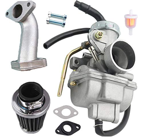 PZ20 Carburetor Carb for Kazuma Baja 50cc 70cc 90cc 110cc 125cc TaoTao 110B NST SunL Chinese Quad 4 stroke ATV 4 wheeler Go kart Dirt Bike Honda CRF50F XL75 CRF80F XR50R with Air Fuel Filter