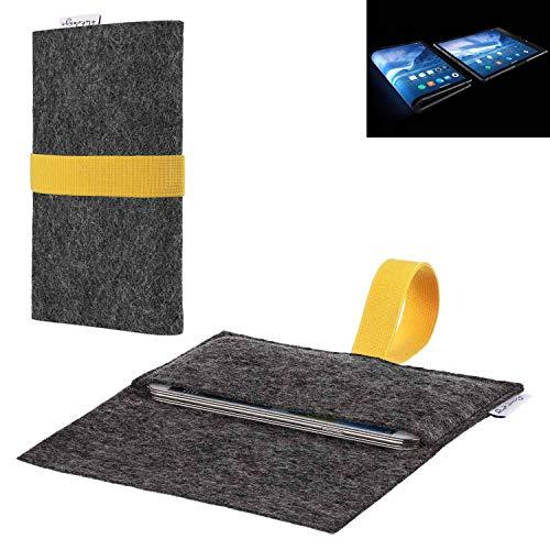flat.design vegane Handy Hülle Aveiro für Royole FlexPai passgenaue Filz Tasche Case Sleeve Made in Germany